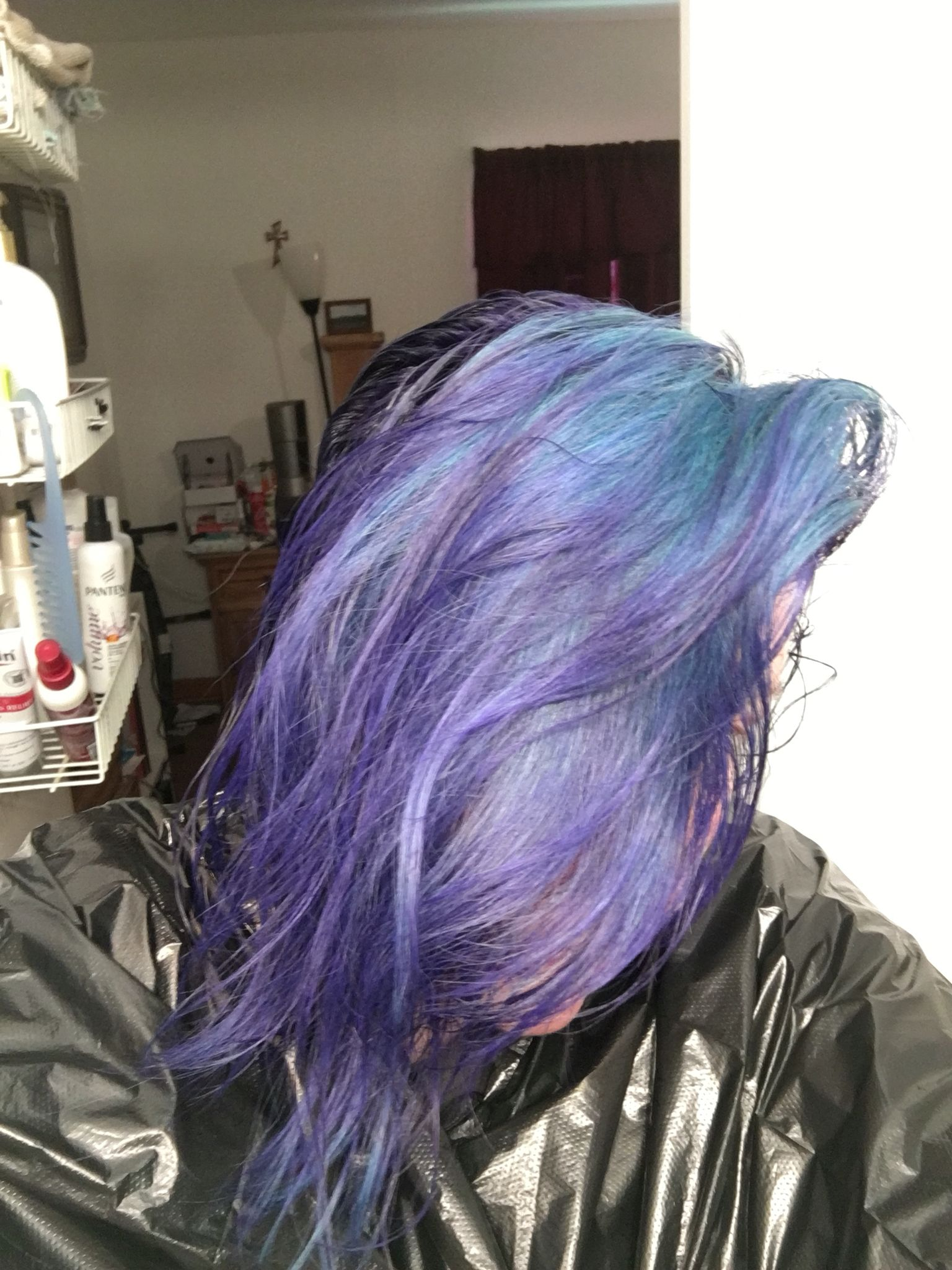This Is Splat Purple Desire Over Faded Splat Deep Emerald I Put It On My Gloves And Ran My Fingers Thru My Hair Hair Long Hair Styles My Hair