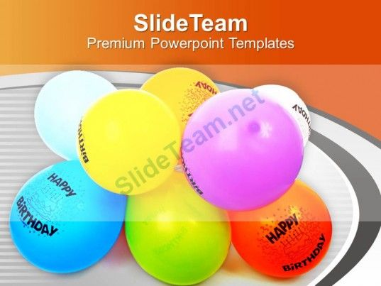 Balloons For Party Theme PowerPoint Templates PPT Themes And Graphics 0513