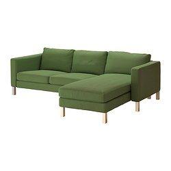 Karlstad Loveseat And Chaise Lounge Sivik Green Ikea