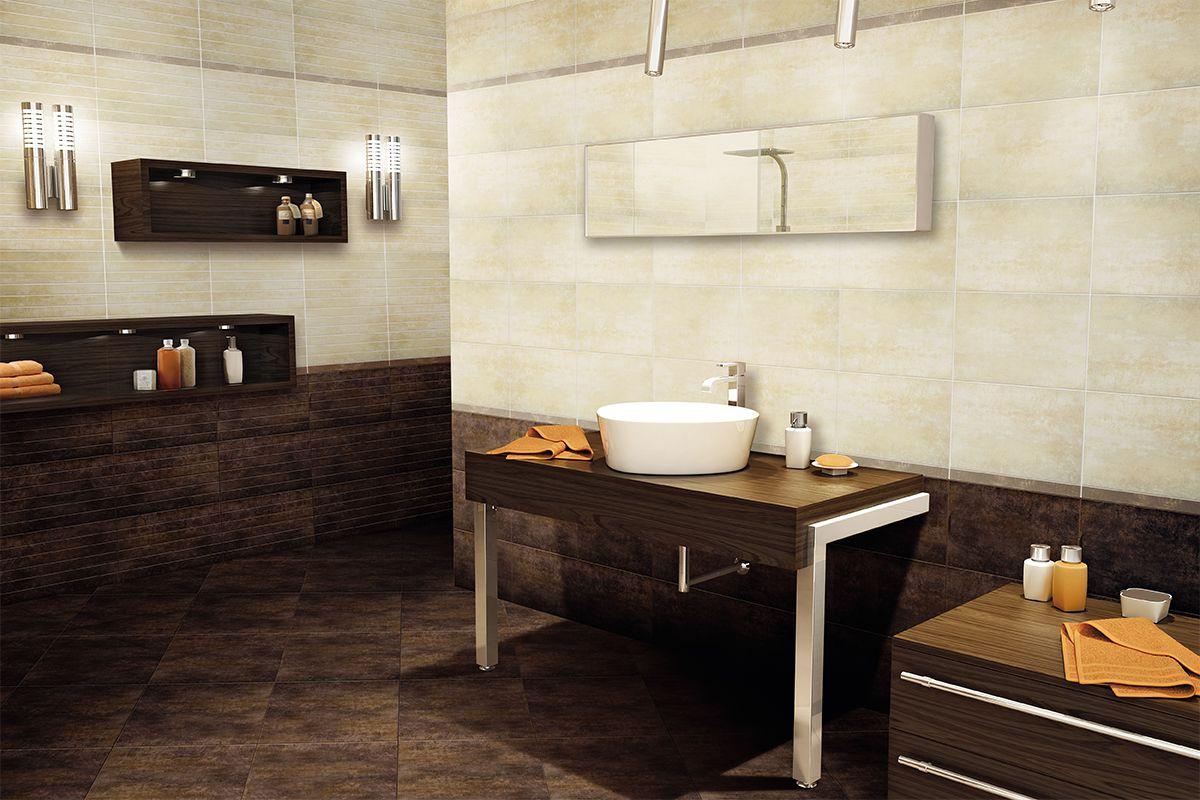 Bagno beige ~ Ristrutturazione nuovo bagno. rivestimento: marrone www.ldservices