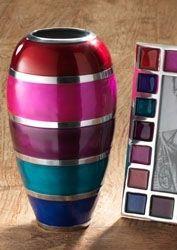 Curved Aluminium Summer Stripe Vase