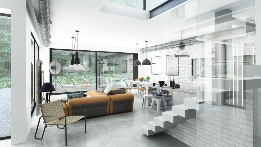 Moderne Wohnzimmer Bilder von Majchrzak Pracownia Projektowa