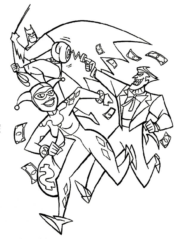 Batman And Joker Coloring Pages Getcoloringpages Batman Coloring Pages Millie Marotta Coloring Book Cartoon Coloring Pages