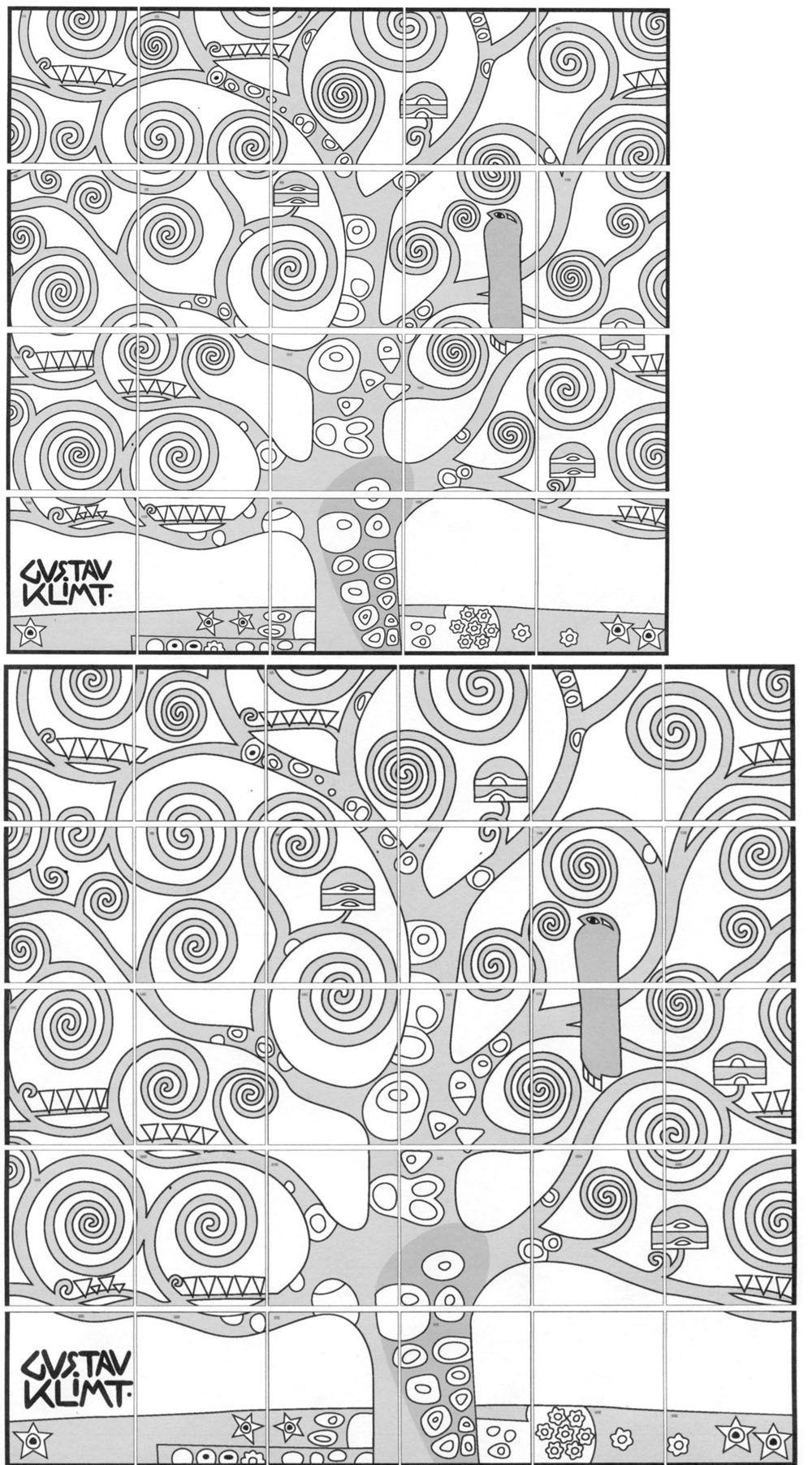 Gustav Klimt Tree Of Life Class Art Projects Collaborative Art