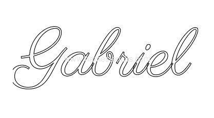 Tattoo Name Gabriel Pesquisa Google Name Tattoos Names Tattoos