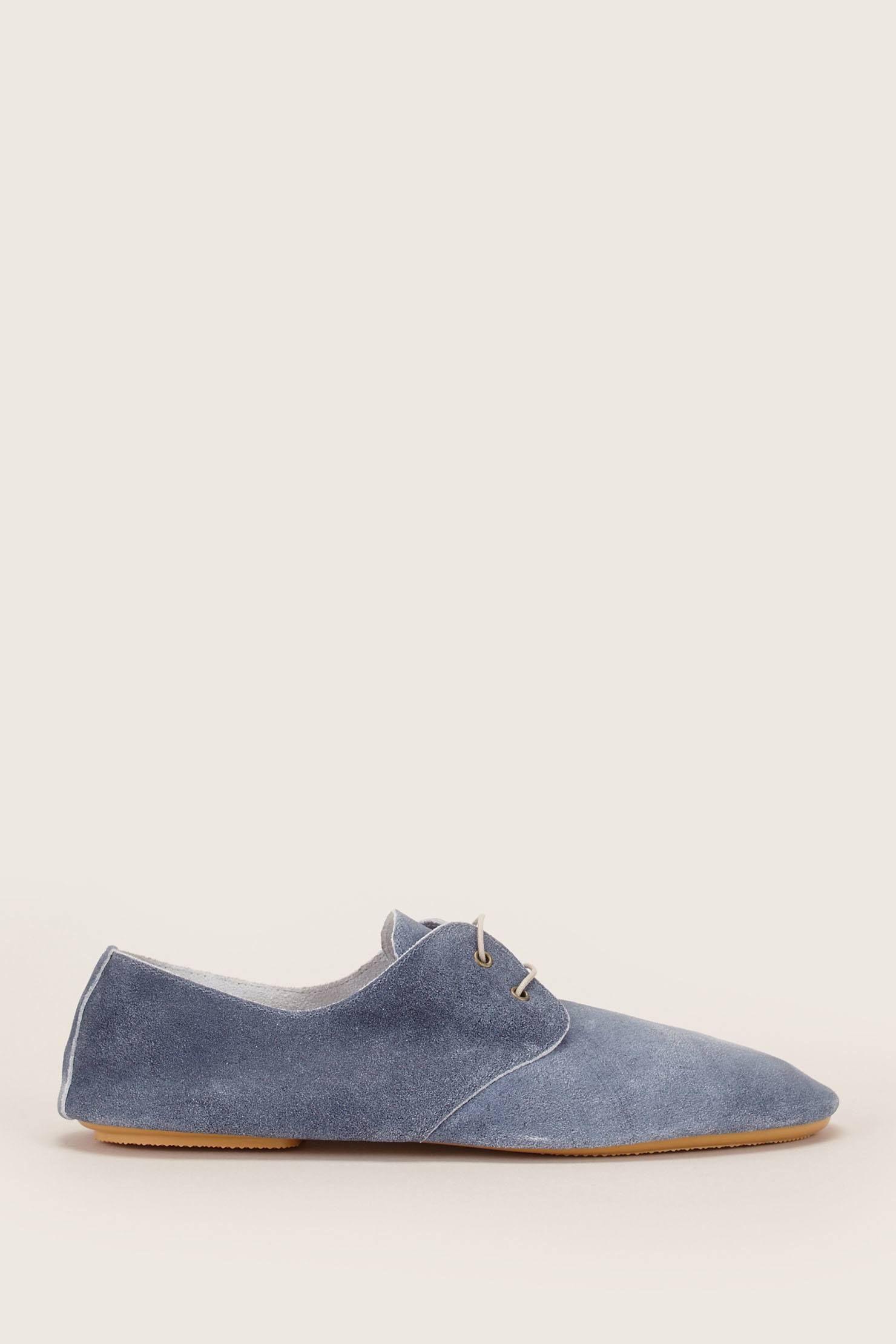 Derbies en cuir suédé bleues zoom   chaussures   Sneakers et