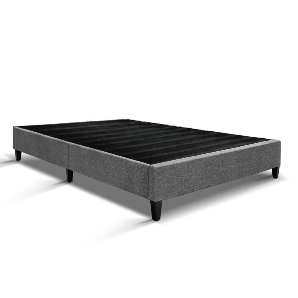 Artiss Double Size Bed Base Frame Grey Bed Base Bed Base