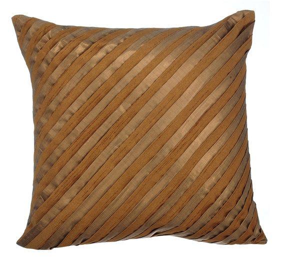 Stupendous Gold Decorative Throw Pillow Covers Accent Pillow Couch Toss Inzonedesignstudio Interior Chair Design Inzonedesignstudiocom