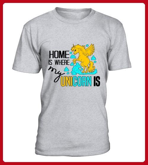Home Is Where My Unicorn Iswhite - Einhorn shirts (*Partner-Link)