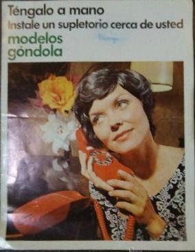 Vintagería: Teléfono góndola rojo de Citesa, años 70