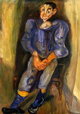 Soutine- Boy In Blue, 1924.  Israel Museum. Oil on canvas.