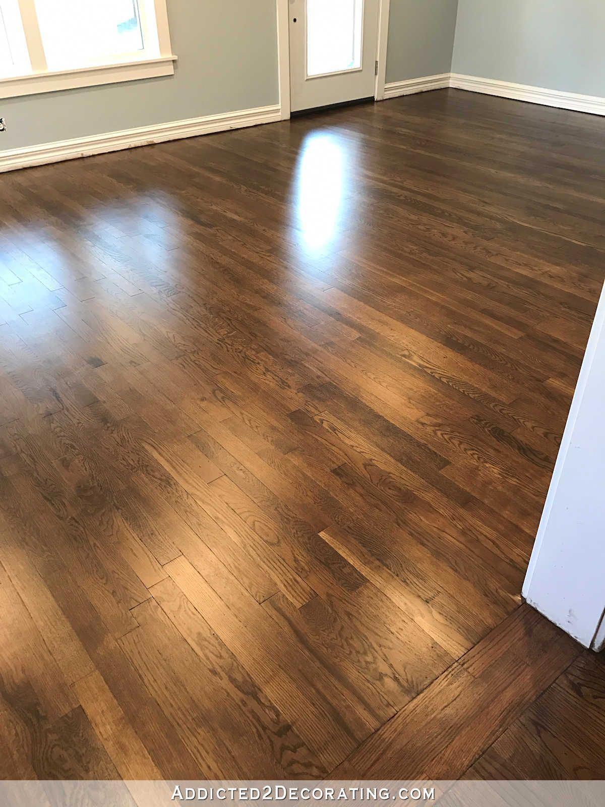 in 2020 Red oak hardwood floors