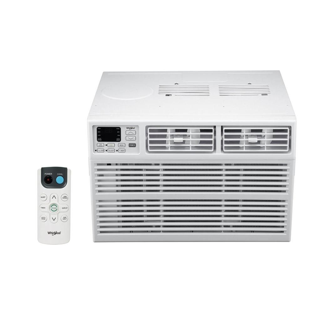 Whirlpool Energy Star 6 000 Btu 115 Volt Window Air Conditioner With Dehumidifier And Remote Whaw061bw The Home Depot Window Air Conditioner Air Conditioner Room Air Conditioner