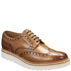Grenson Men's Archie V Leather Brogues - Tan Calf: Image 2