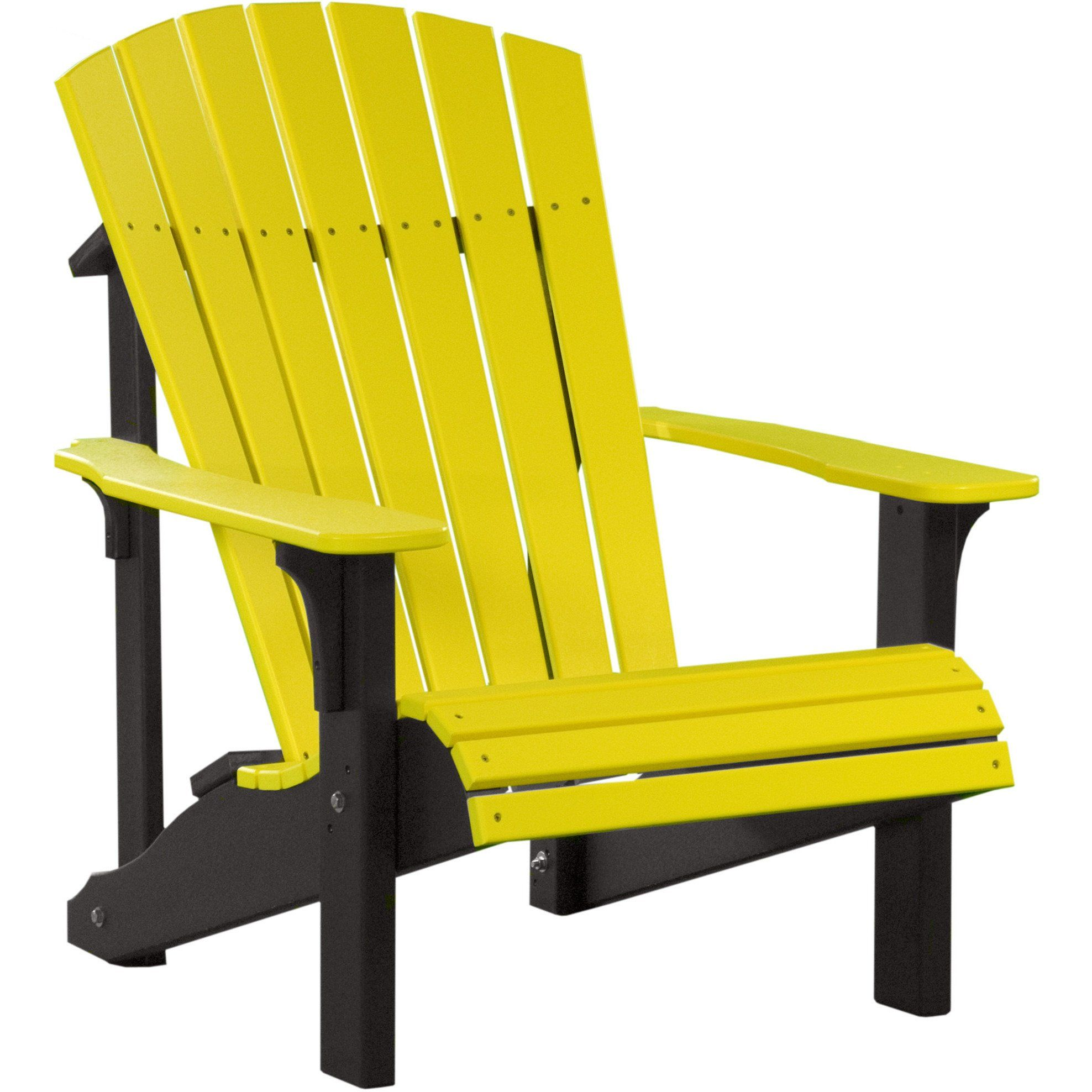 A & L Furniture Recycled Plastic Fanback Adirondack Chair