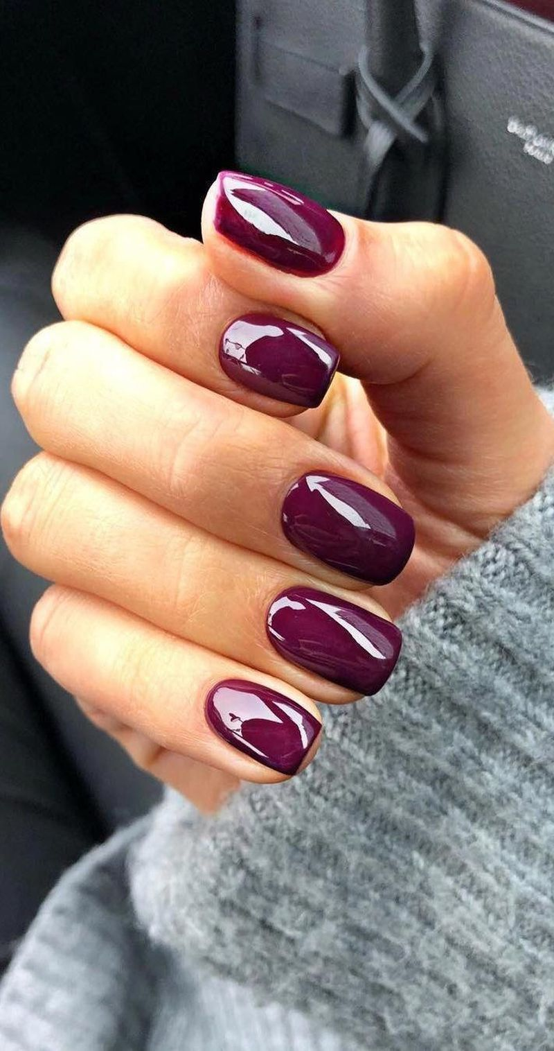 47 Popular Winter Nails Colors to Look Excellent This Season #fallnails