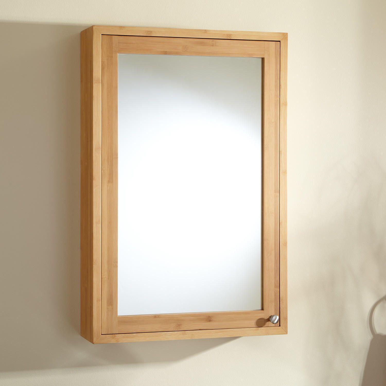 24 Theera Bamboo Medicine Cabinet Bathroom Mirror Wall Bedroom Mirror Wall Living Room Medicine Cabinet Mirror