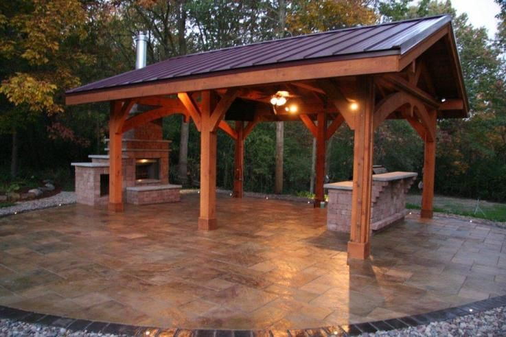 Pavilion By Wisconsin Log Homes
