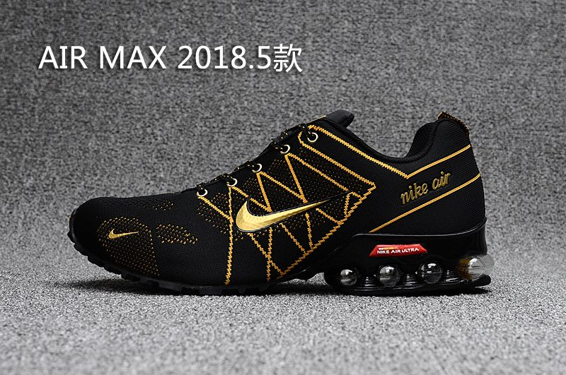 Air Max 2018 Flyknit Men Gold Black | shoes in 2019 | Gold