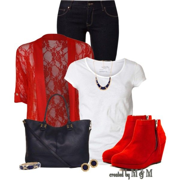 """""""Lace Outerwear + Ankle Booties"""" by marion-fashionista-diva-miller on Polyvore"""