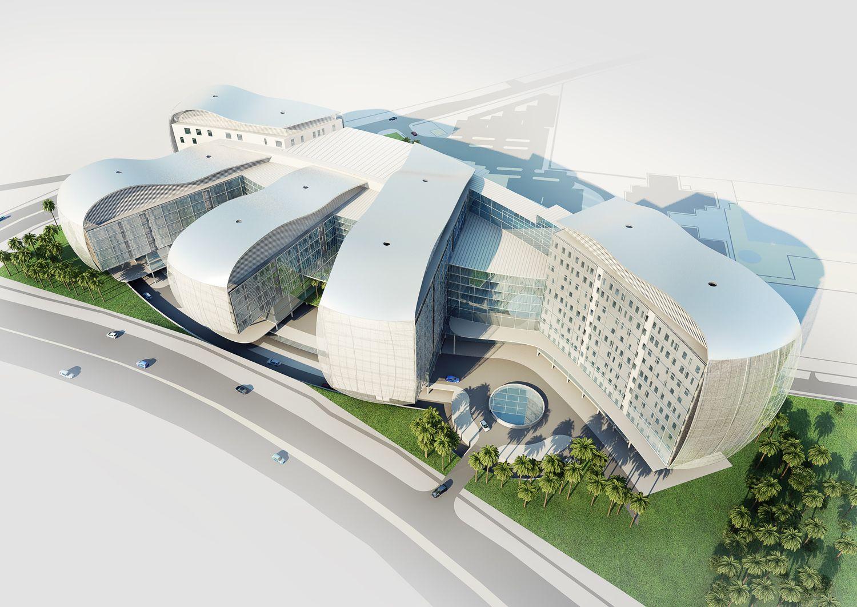 Malaysia+architecture | Bahru Hospital, Malaysia