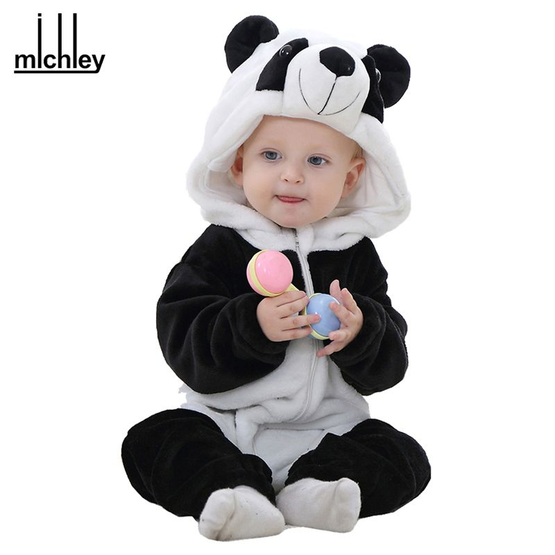 7b5677d60c47 Aliexpress.com   Buy MICHLEY Spring Autumn Baby Clothes Flannel Baby Boys  Clothes Cartoon Animal Jumpsuits Infant Girl Rompers Baby Clothing XYZ15088  from ...