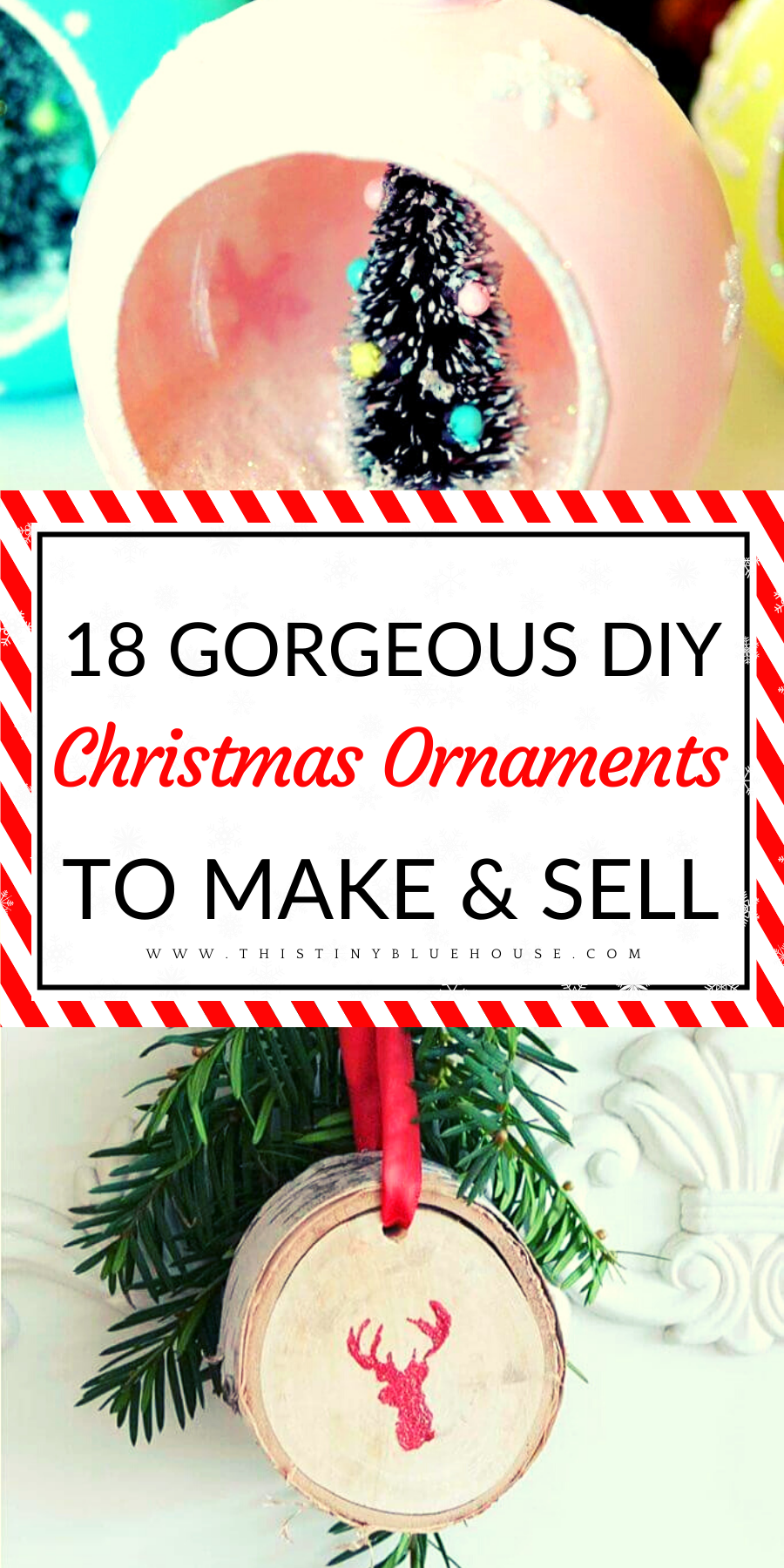 18 DIY Christmas Ornaments To Make And Sell (With images