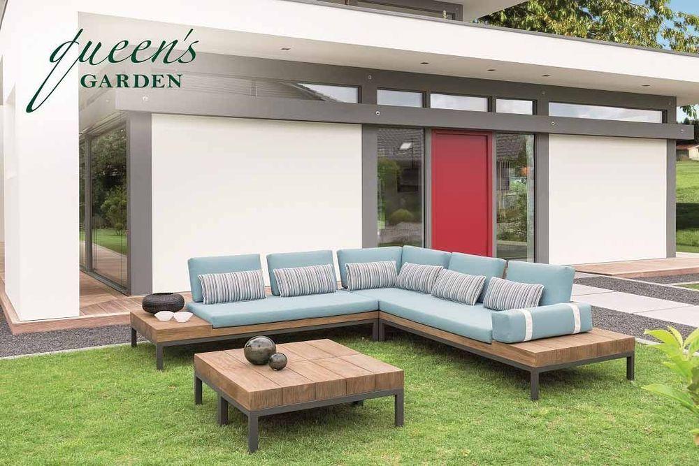 Details zu QUEENS GARDEN Lounge-Gruppe Combi Teak Holz Gartenmöbel - gartenmobel alu holz