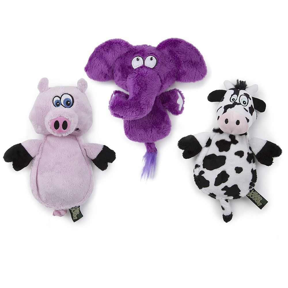 The Silent Squeaking Dog Toys Dogs Up To 25 Lbs Hammacher