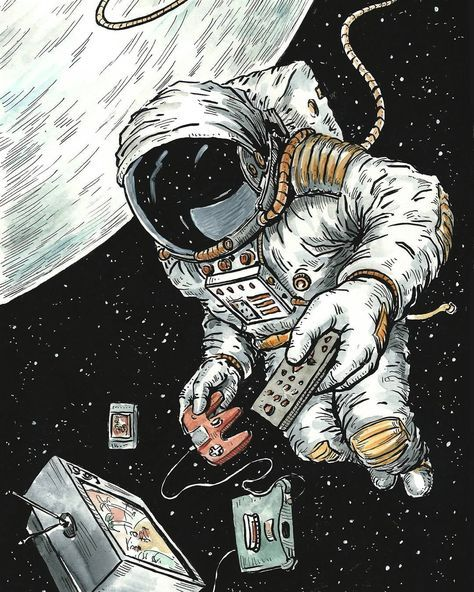 Drawing ink space 47 Ideas in 2020 Space illustration