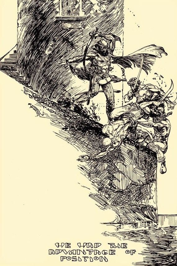 Black and White artwork by Michael William Kaluta.