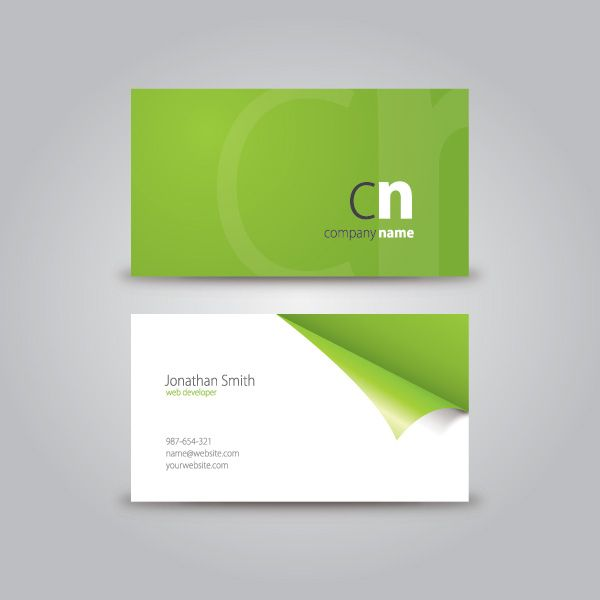 Curled Corner Business Card By Dryicons Com Business Card
