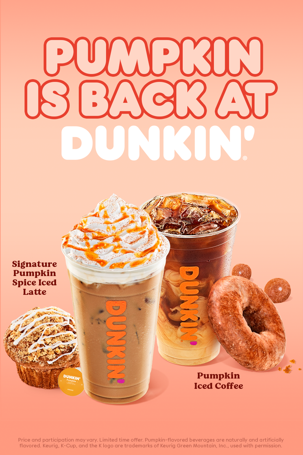 Pumpkin is back at Dunkin' in 2020 Fruit smoothie