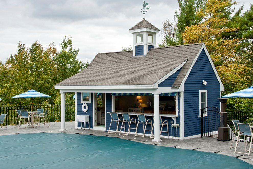 pool house bar patio traditional with trees arched pergolas ...