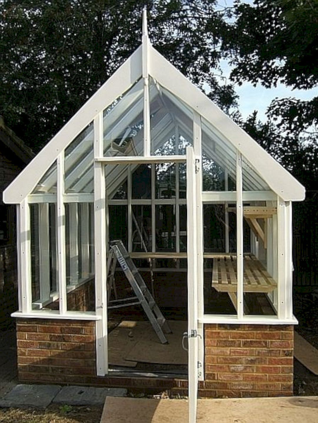 30 Best And Gorgeous Wooden Greenhouse For Home Backyard Ideas