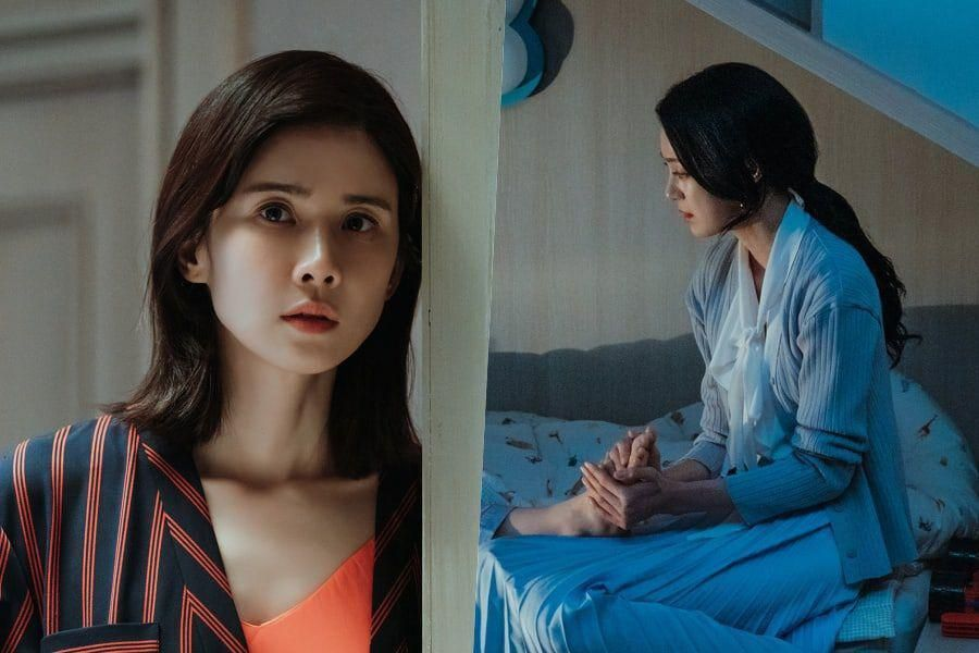"Lee Bo Young Gets Suspicious Of Ok Ja Yeon's Behavior Around Her Son In ""Mine"""