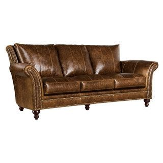 Shop For Archibald 100% Top Grain Italian Leather Sofa. Get Free Shipping  At Overstock