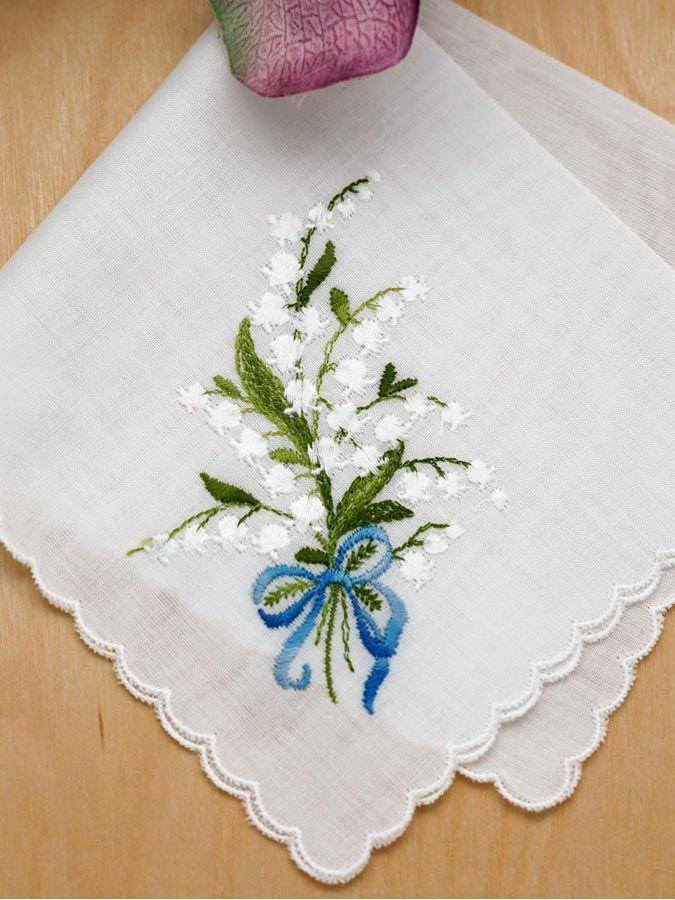 Vintage Hanky Tan and Aqua Flowers Hand Rolled Edge Hankie Handkerchief
