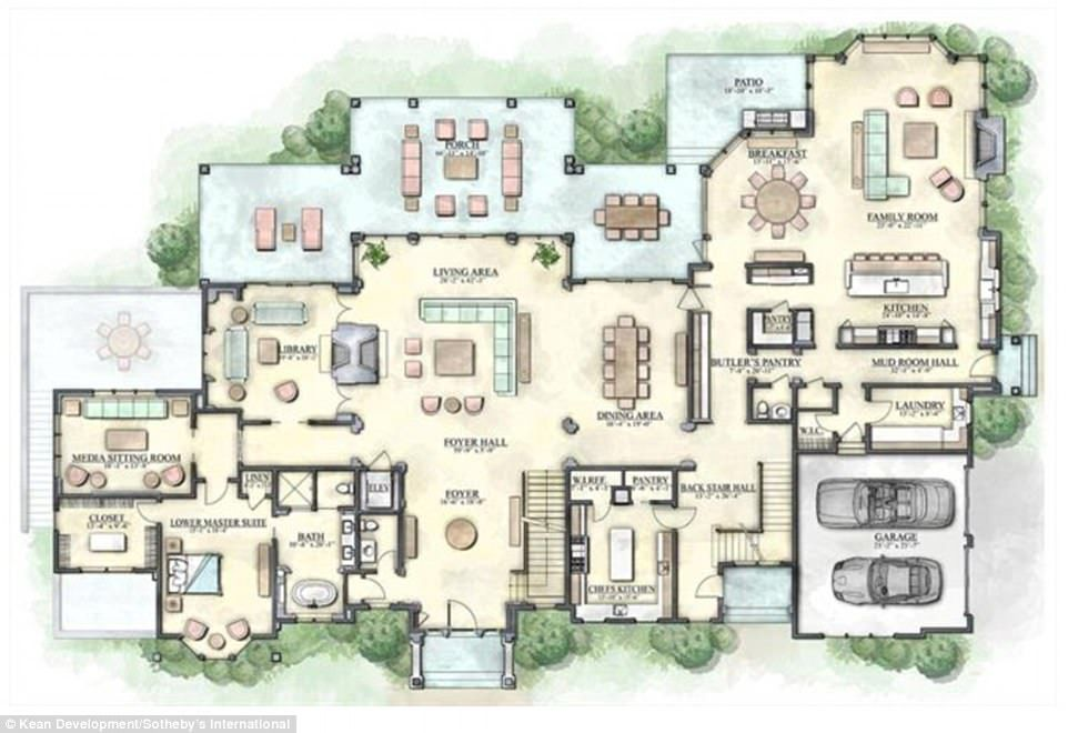 Largest Mansion For Sale In The Hamptons Hits The Market For 35m Mansion Floor Plan The Hamptons Hampton Mansion