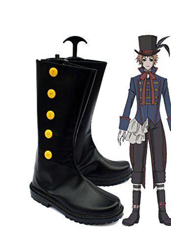 Black Butler Kuroshitsuji Baron Cosplay Shoes Boots Custom Made