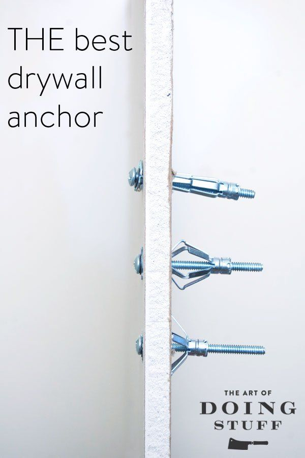 The Only Drywall Anchor You Should Ever Use Drywall Anchor Diy Home Repair Drywall