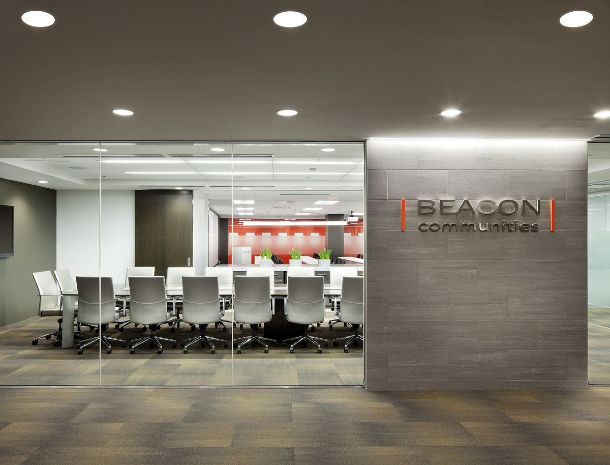 conference room entry way glass with accent wall for logo on commercial office colors for walls id=17884
