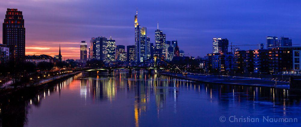 Skyline Panorama Frankfurt Am Main Foto Bild Deutschland