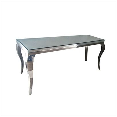 Mirror Hall Table With French Style Chrome Legs Wholesale Concepts   Wayfair