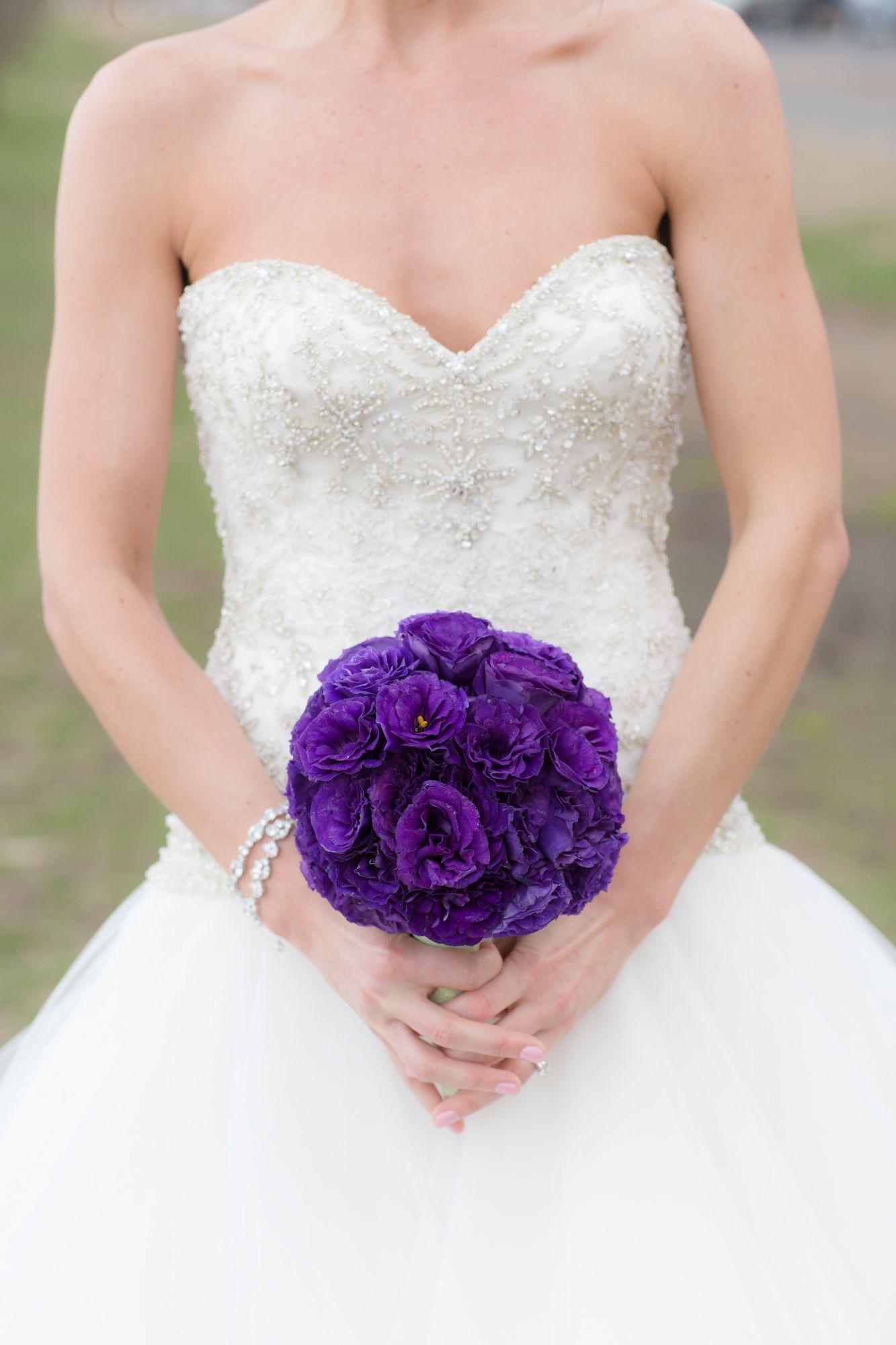 Small Purple Lisianthus Bridal Bouquet Lisianthus Bridal Bouquet