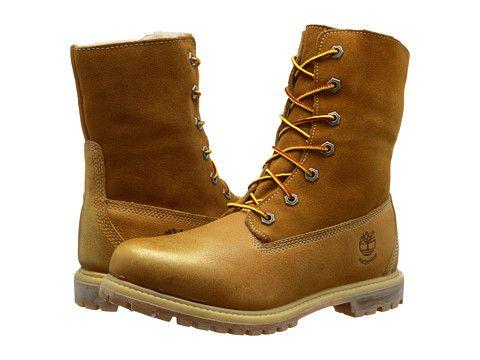 Womens Boots Timberland Authentics Teddy Fleece Fold-Down Wheat Rugged Metallic Finish
