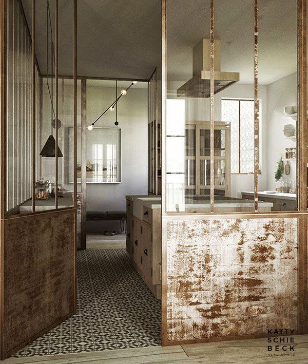 la verri re dans la cuisine 19 id es photos lofts. Black Bedroom Furniture Sets. Home Design Ideas