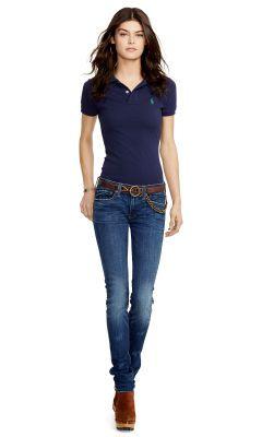 c8e1fb01c0 Skinny-Fit Polo Shirt - Polo Ralph Lauren Polos - RalphLauren.com ...