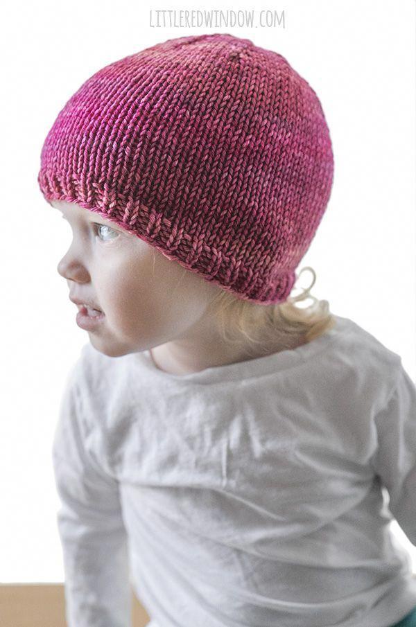 Basic Easy Baby Hat Knitting Pattern - Little Red Window ...