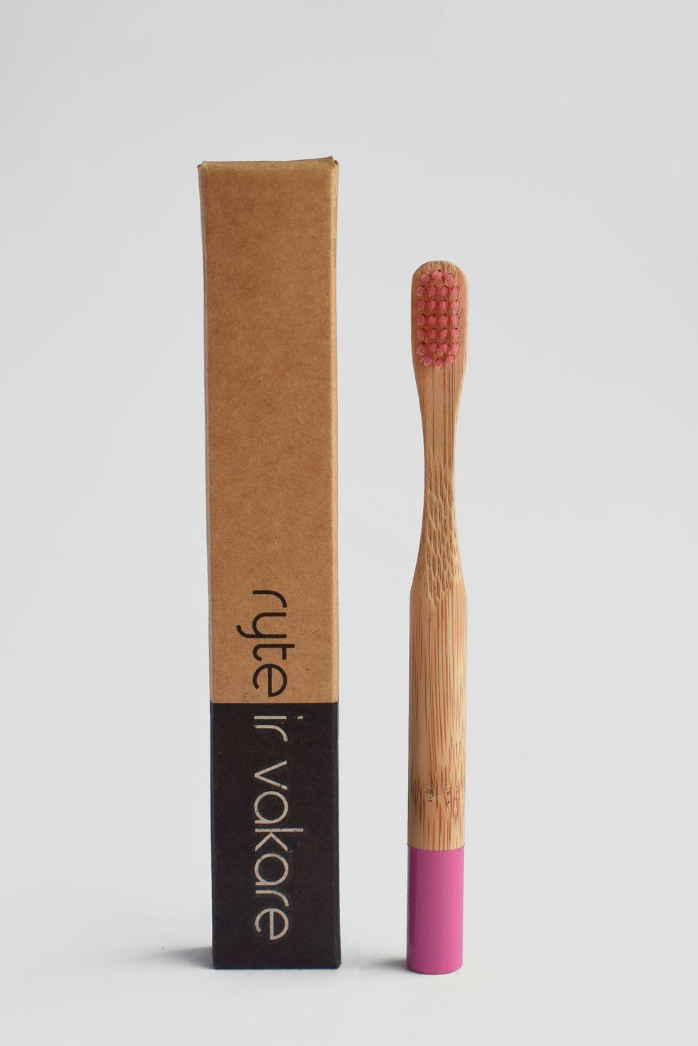 naturalūs dantų šepetėliai mažiesiems!  #kids #pink #toothbrush #bamboo